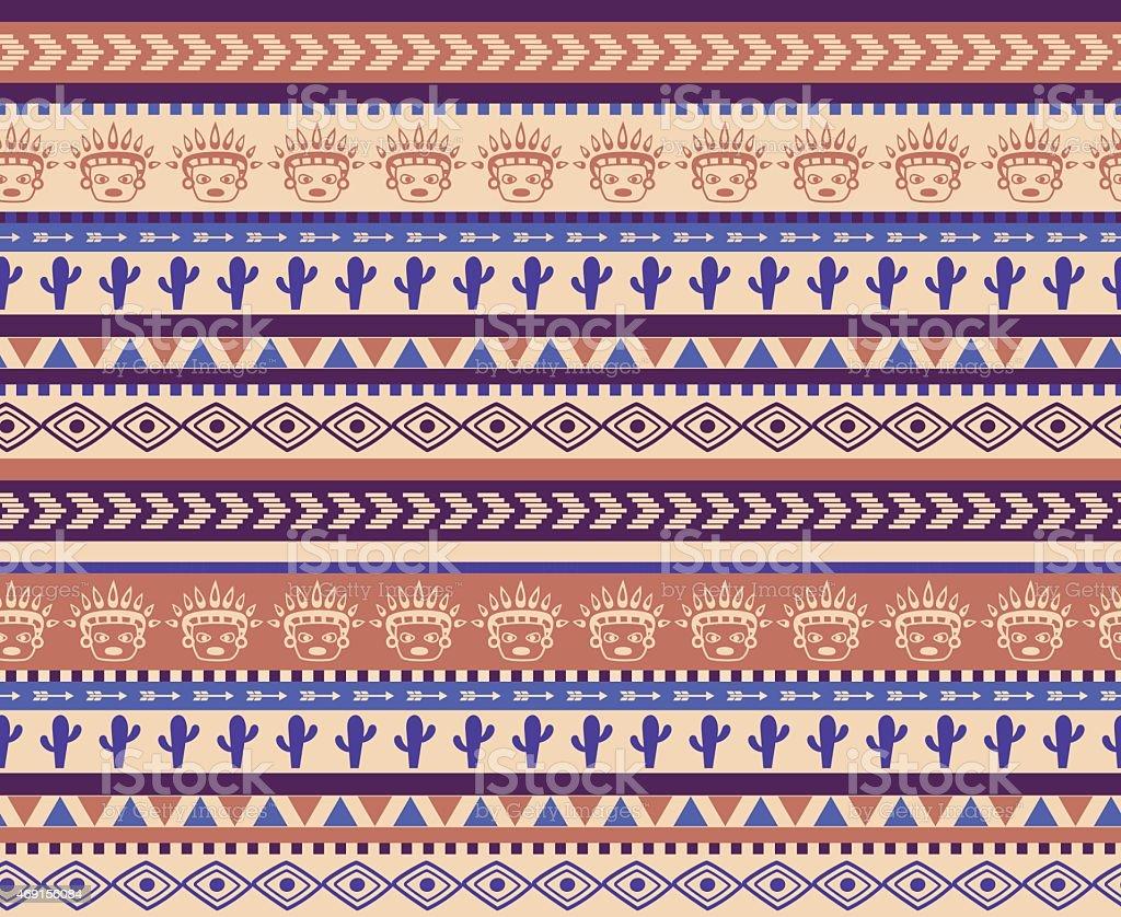 warrior pattern vector art illustration