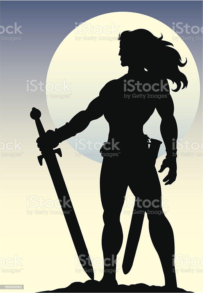 Warrior royalty-free stock vector art