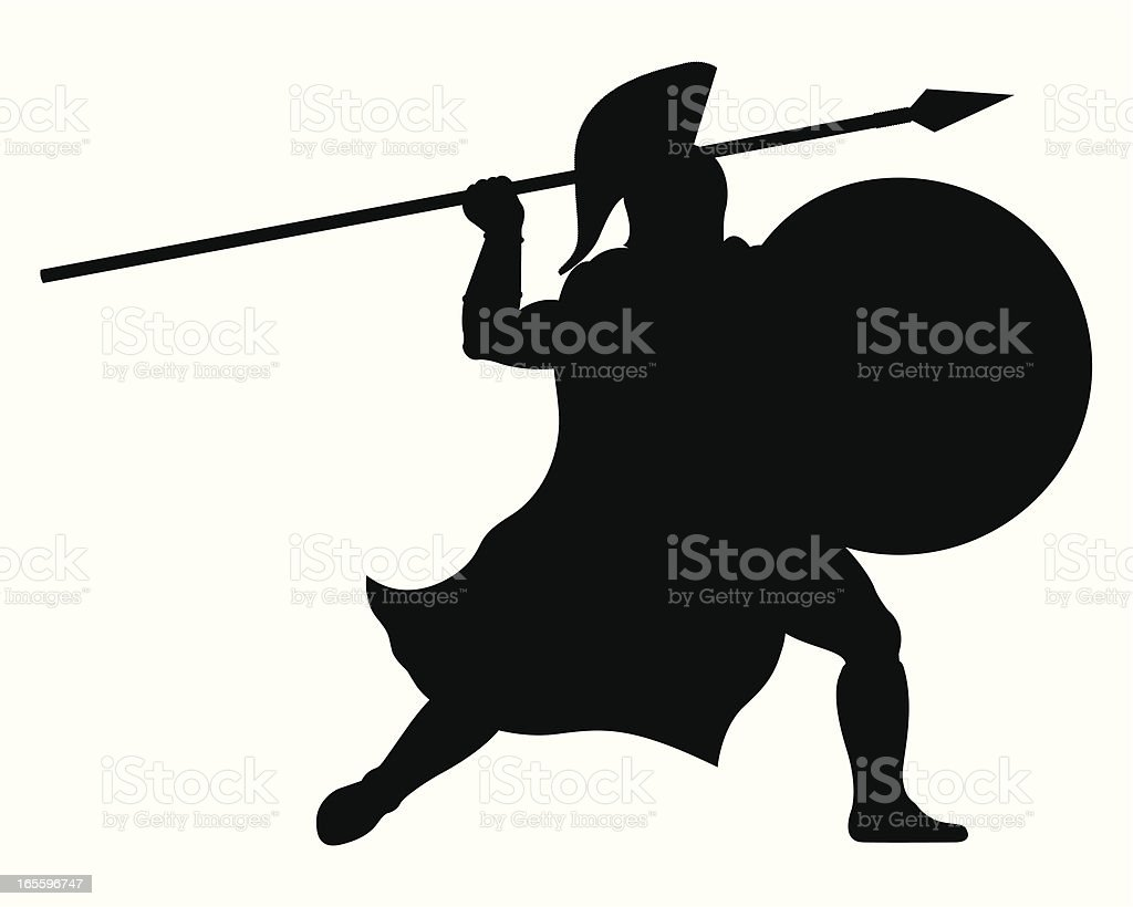 warrior royalty-free stock vector art