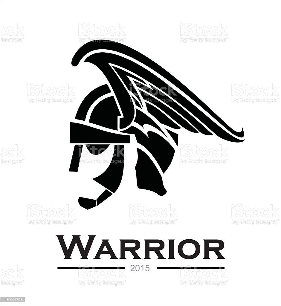 Warrior. warrior profile,warrior head vector art illustration