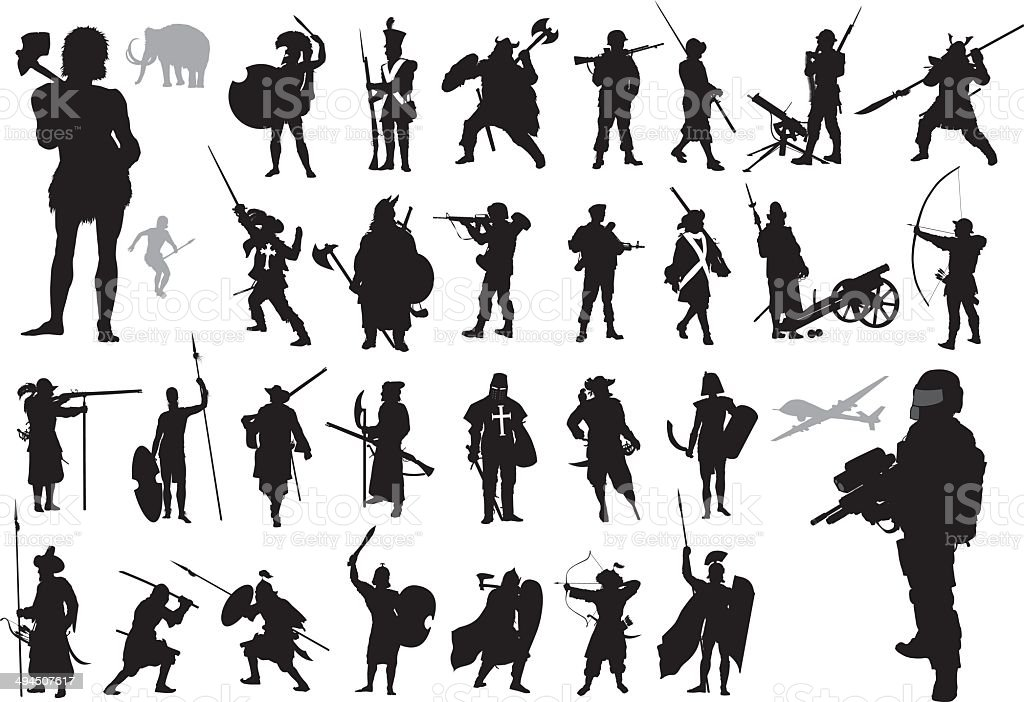 Warriors collection. Vector vector art illustration