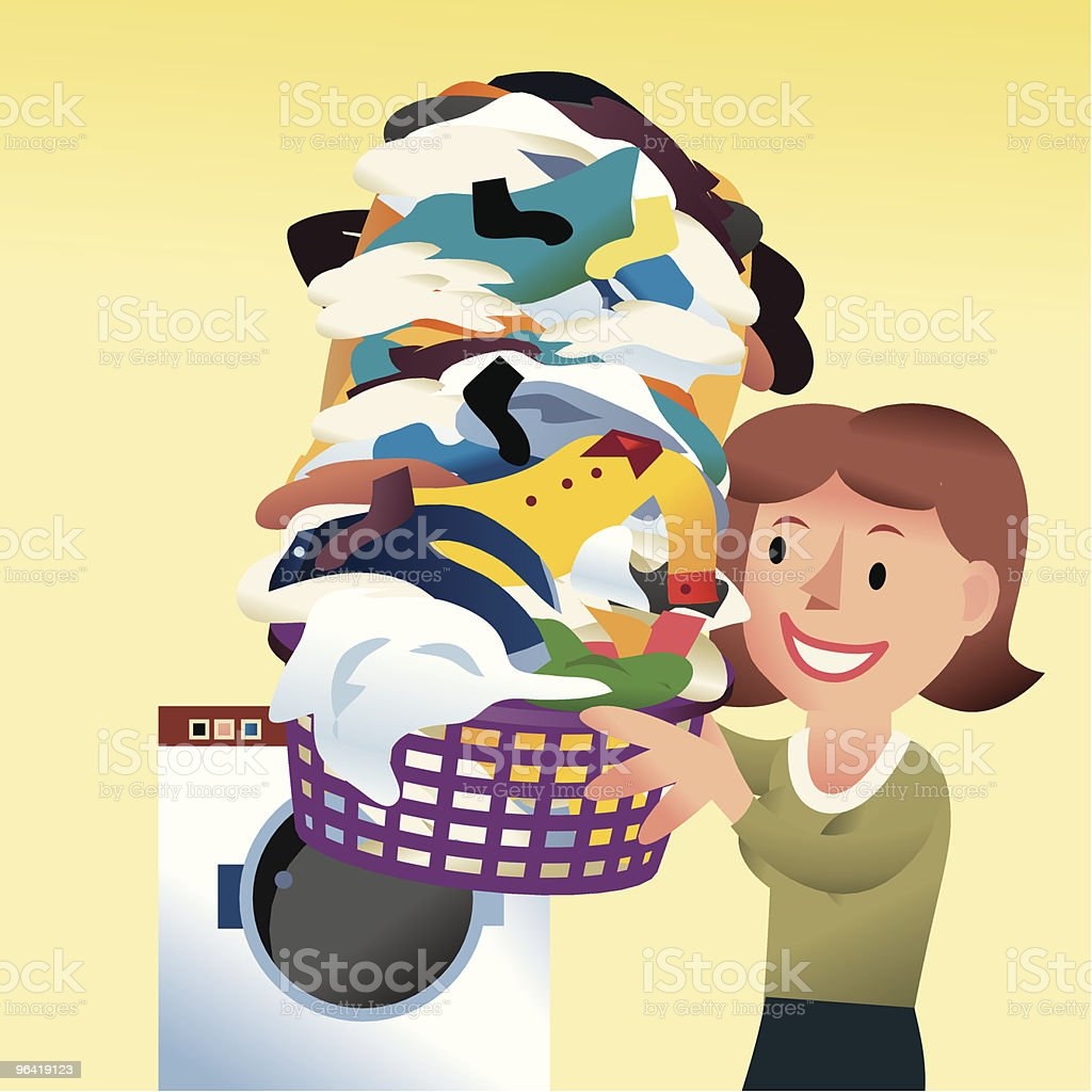 Wash Day vector art illustration