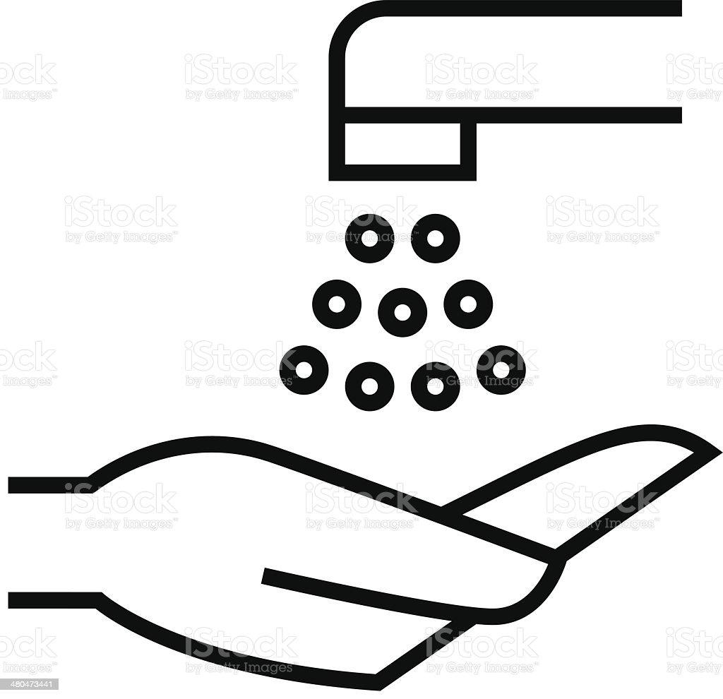 Wash hands icon vector art illustration