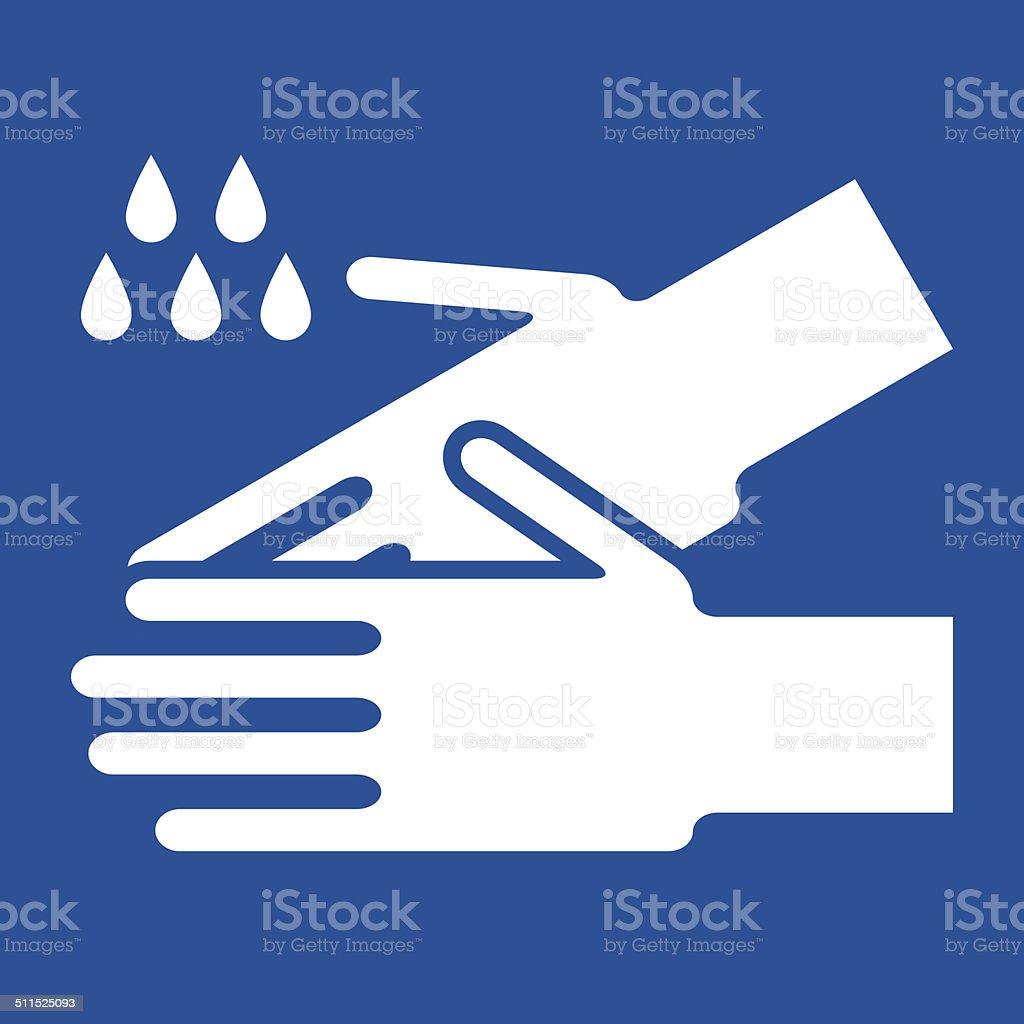 Wash hands sign vector art illustration