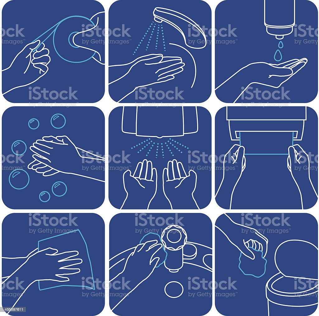 Wash Hands vector art illustration