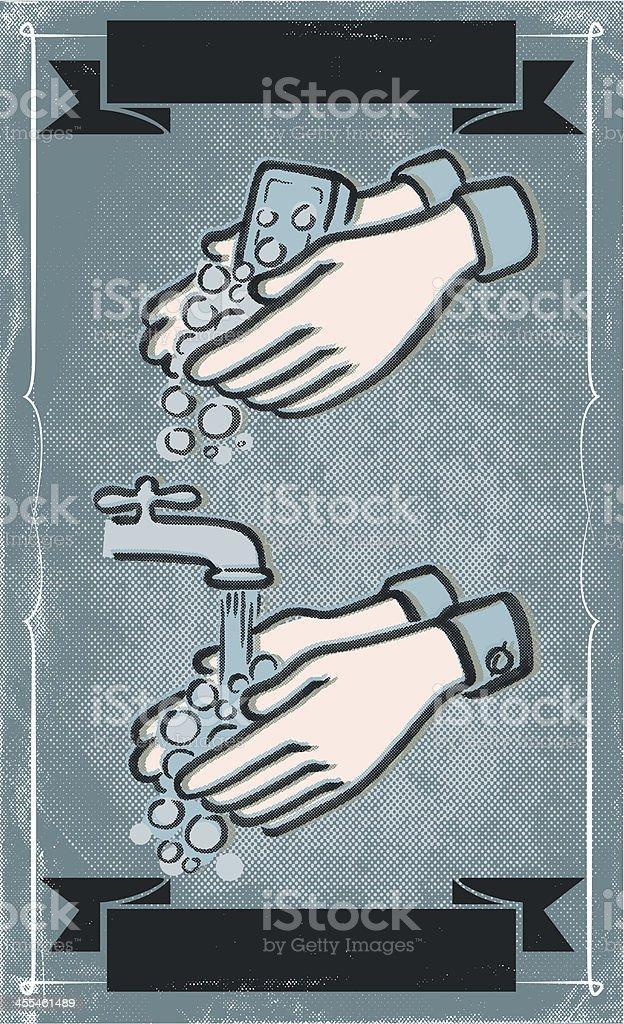 wash those nasty hands vector art illustration