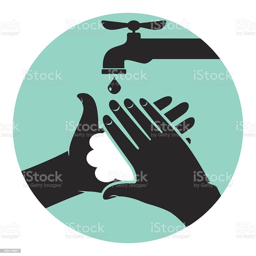 Wash your hands, icon vector illustration vector art illustration