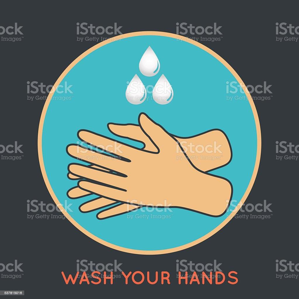 wash your hands symbol vector art illustration