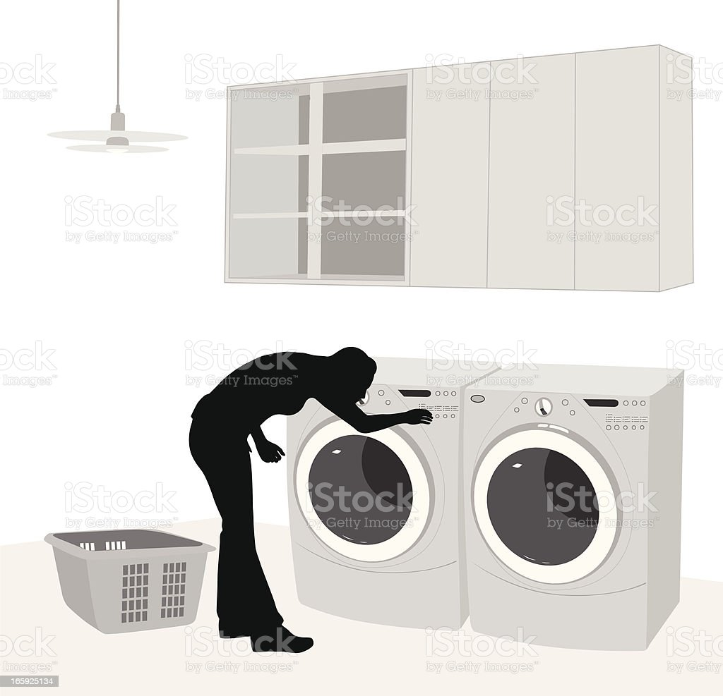 Washer And Dryer Clipart clothes washer laundry clothes dryer silhouette clip art, vector