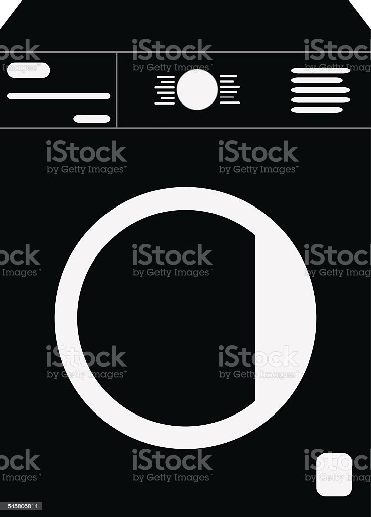 washer mashine icon vector art illustration