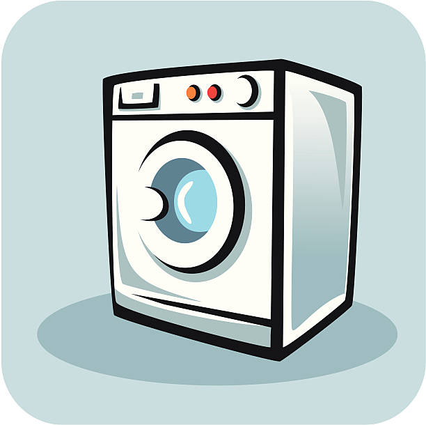 Clip Art Washing Machine ~ Washing machine clip art vector images illustrations
