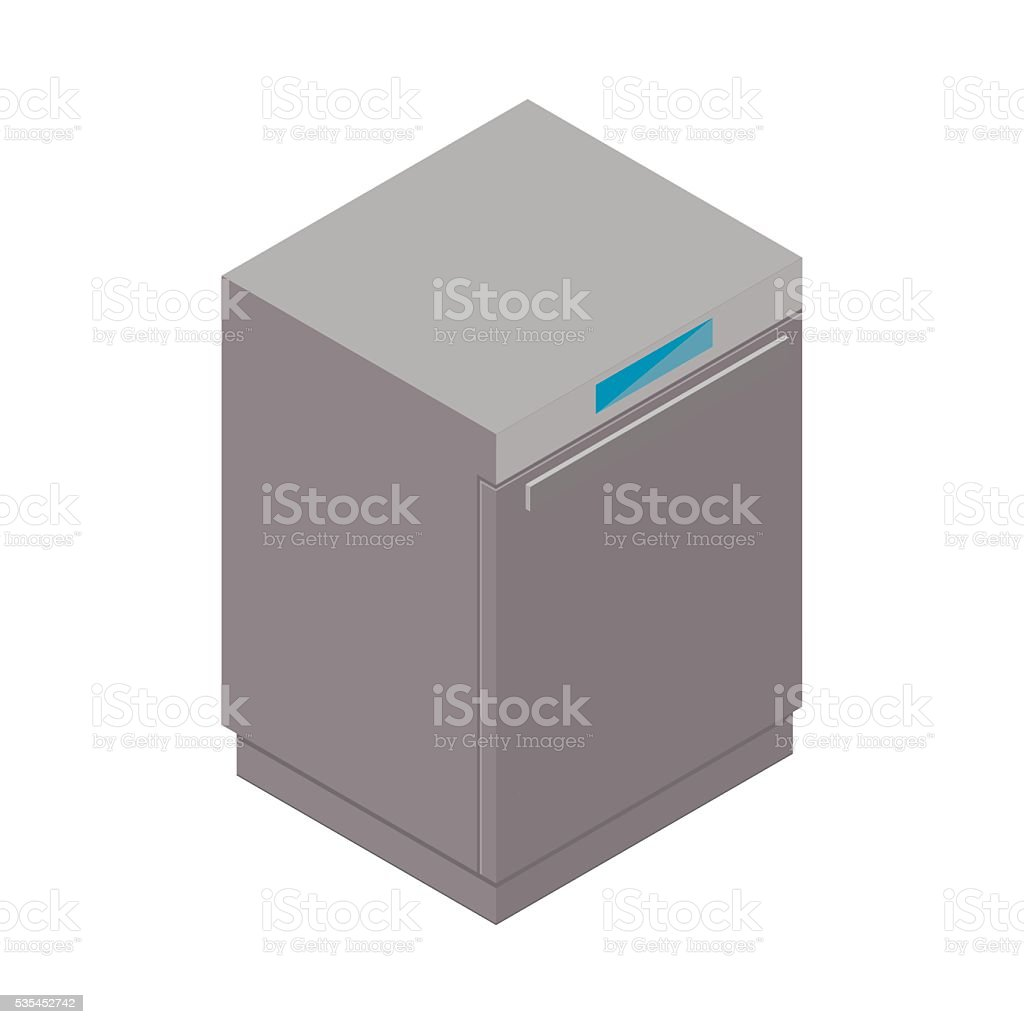 Washing mashine detailed isometric icon vector art illustration