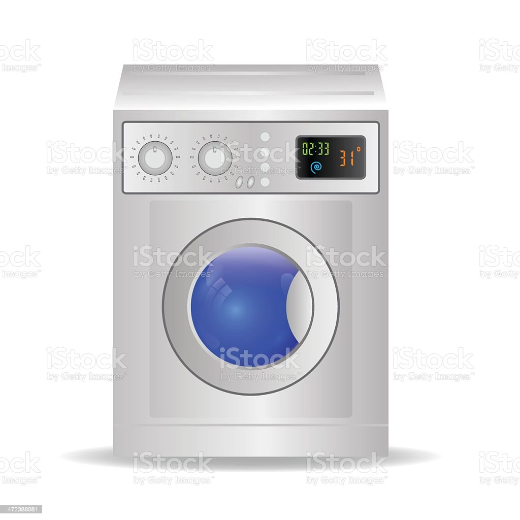 washing mashine vector art illustration