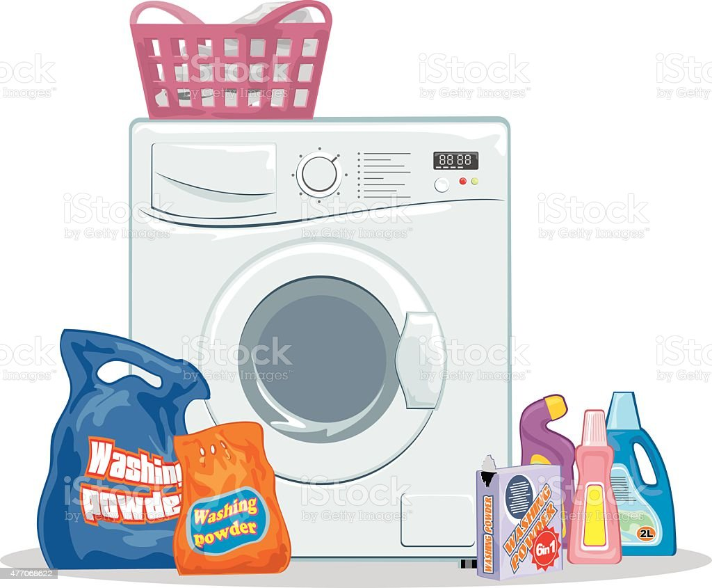 Washing set vector art illustration