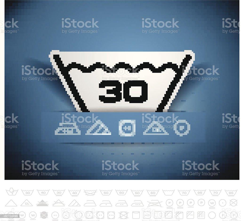 Washing symbol royalty-free stock vector art