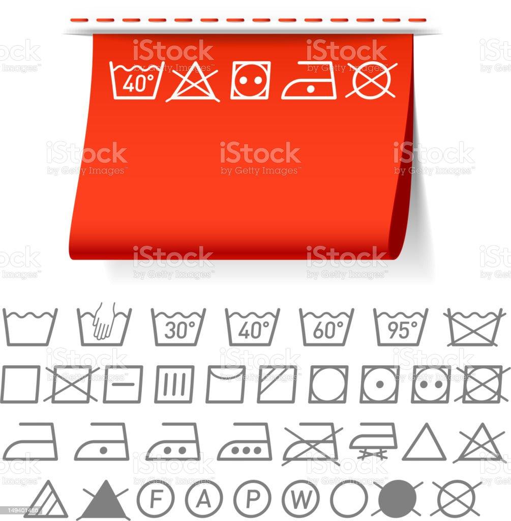 Washing symbols vector art illustration
