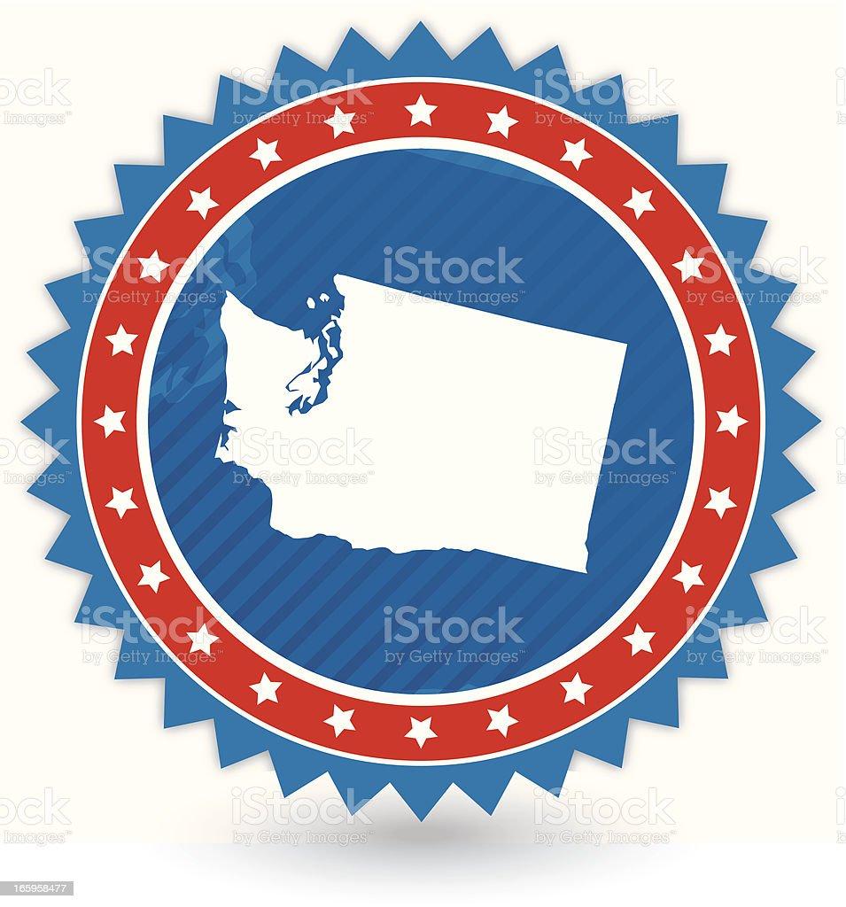Washington Badge royalty-free stock vector art