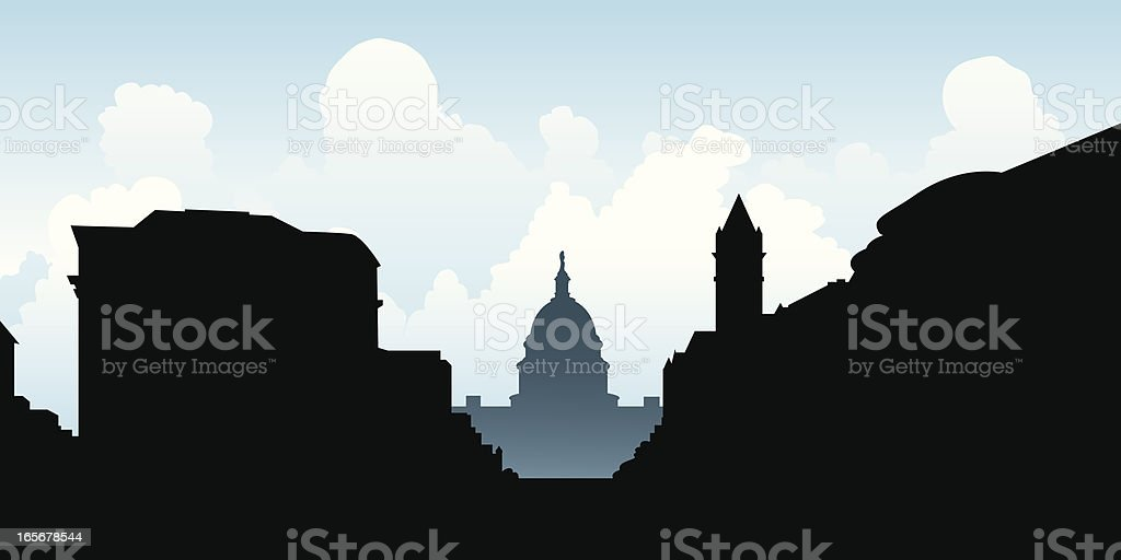 Washington D.C. Silhouette royalty-free stock vector art