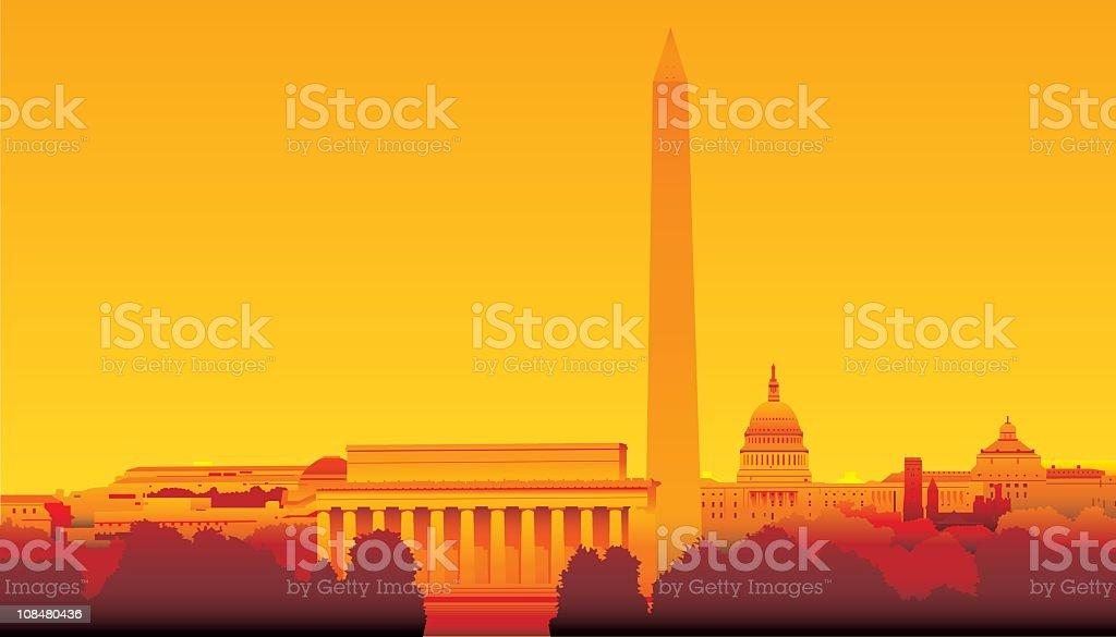 Washington DC vector art illustration