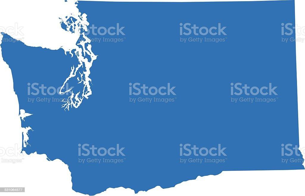 Washington Map vector art illustration