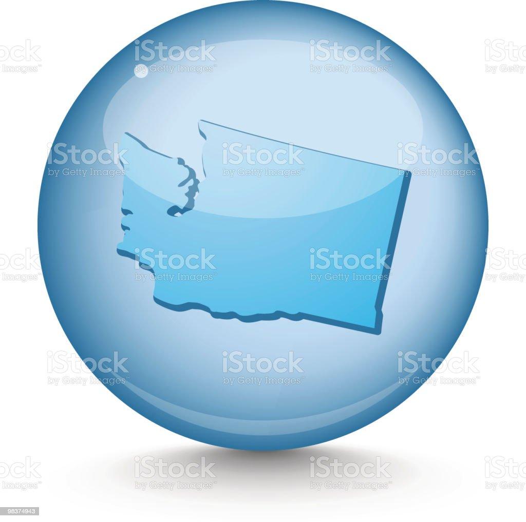 Washington - Sphere State Series royalty-free stock vector art