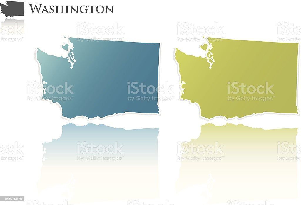 Washington State Graphic royalty-free stock vector art