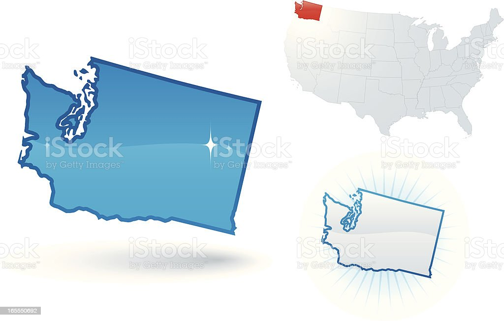 Washington State royalty-free stock vector art