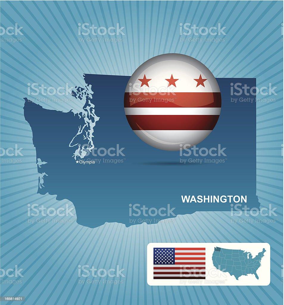 Washington state vector art illustration