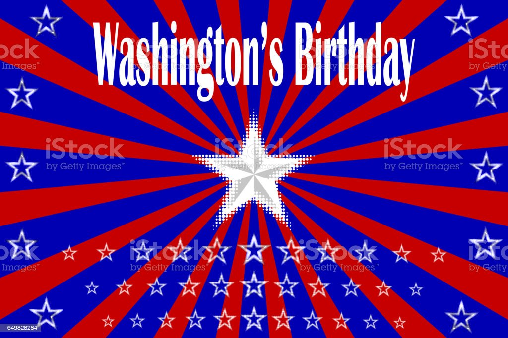 Washington's Birthday, Happy President's Day! vector art illustration