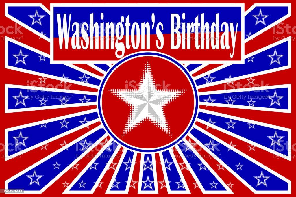 Washington's Birthday, Happy President's Day! vector art illustration