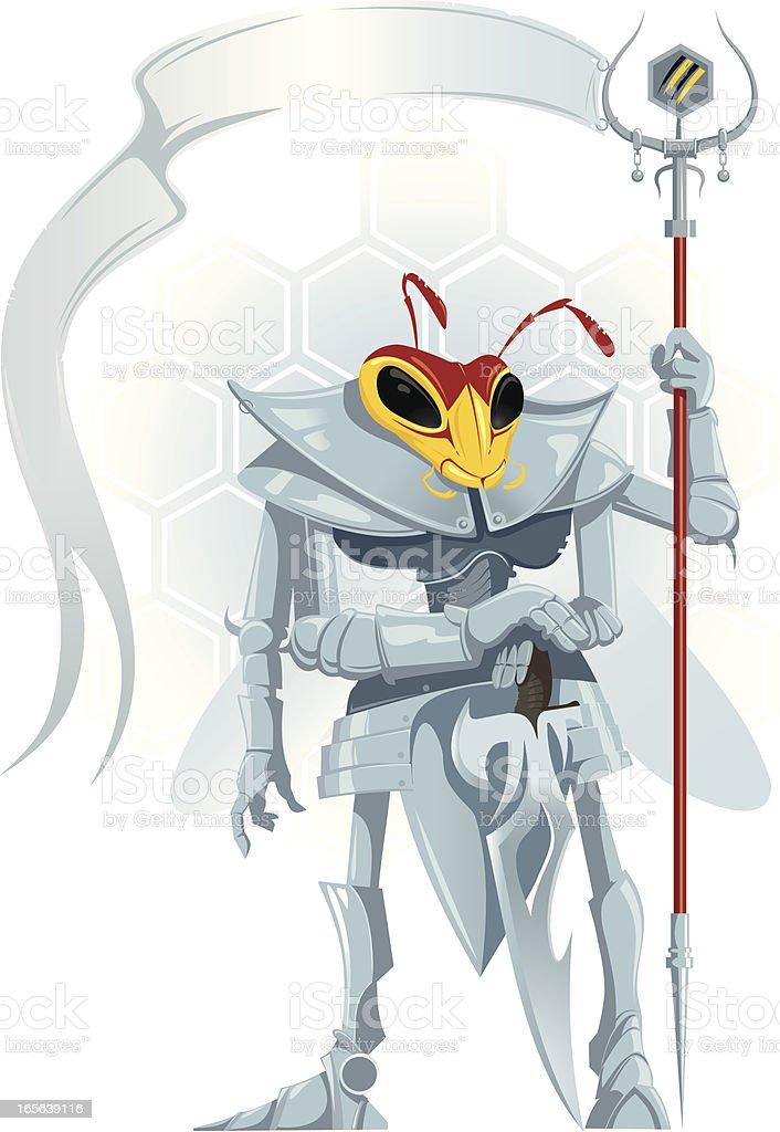 Wasp Warrior royalty-free stock vector art