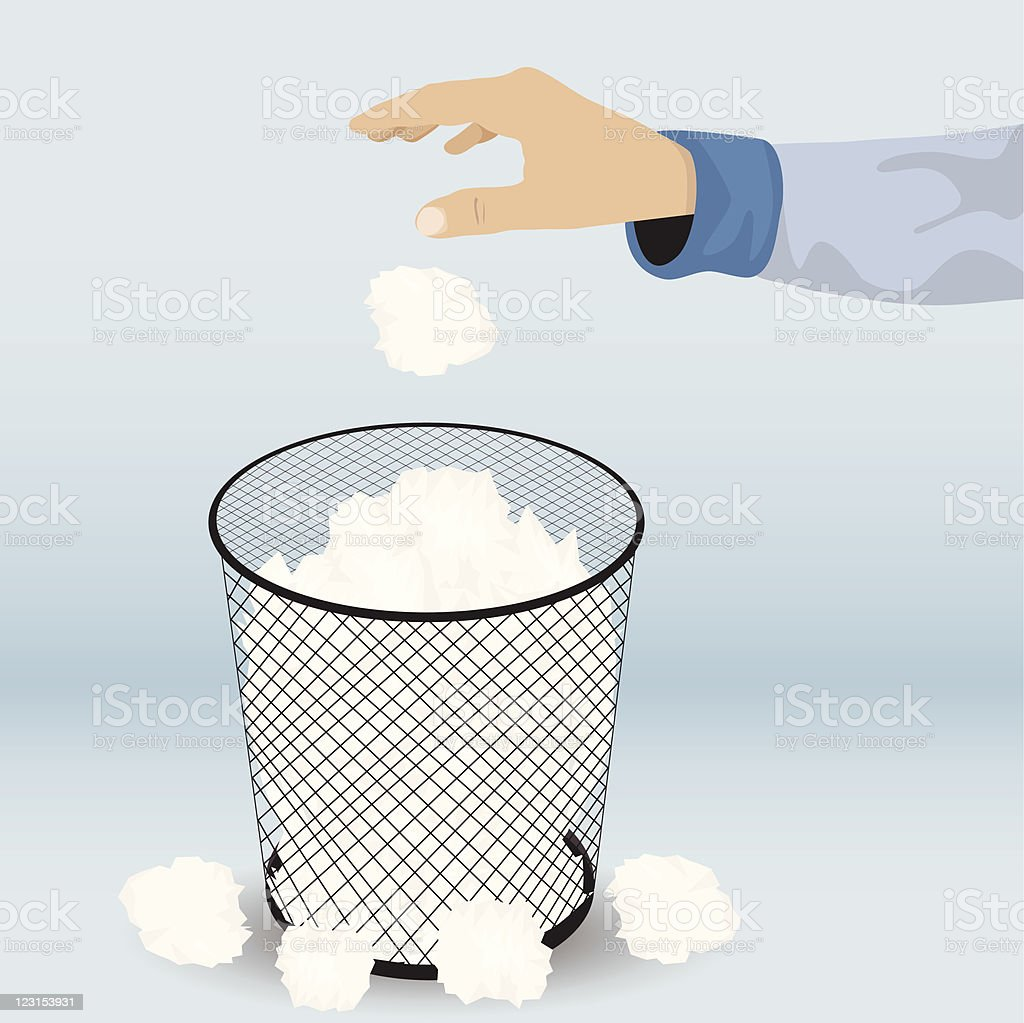Waste Basket vector art illustration