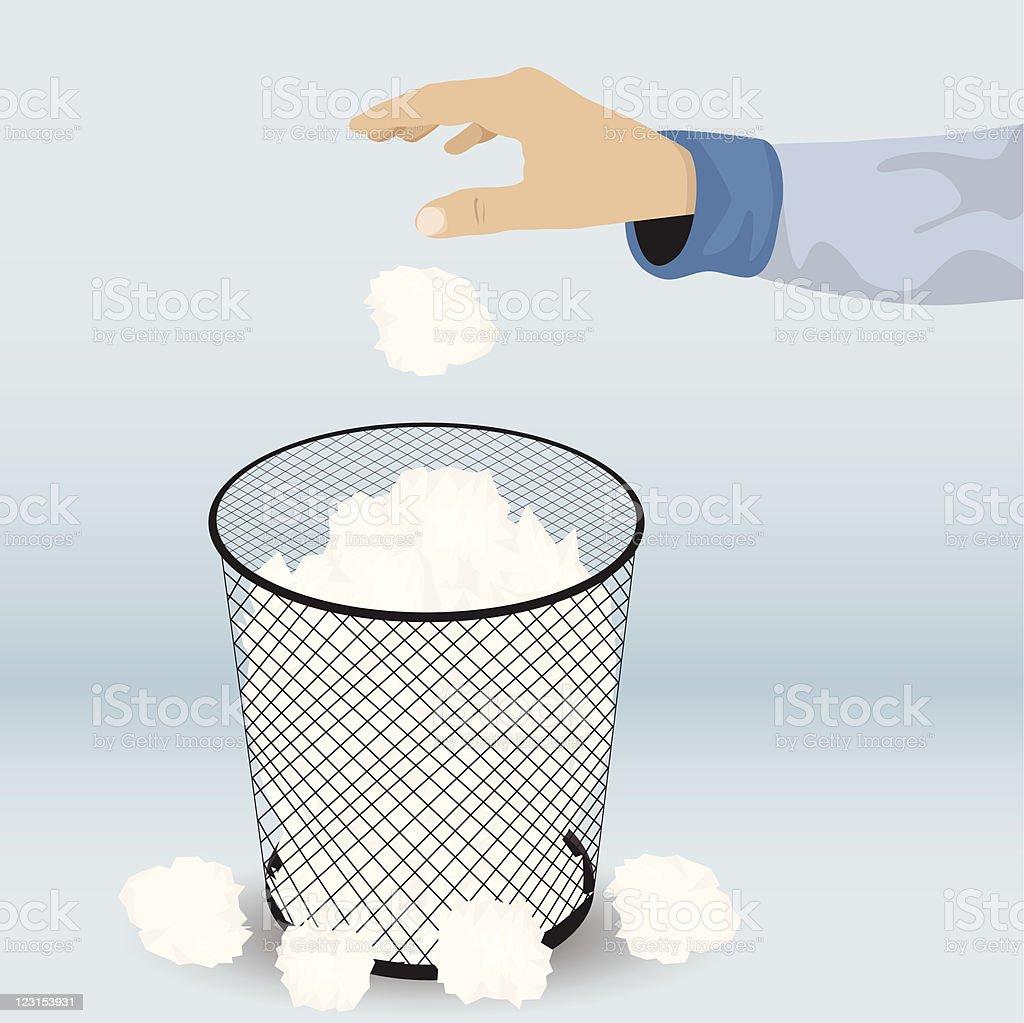 Waste Basket vector art illustration