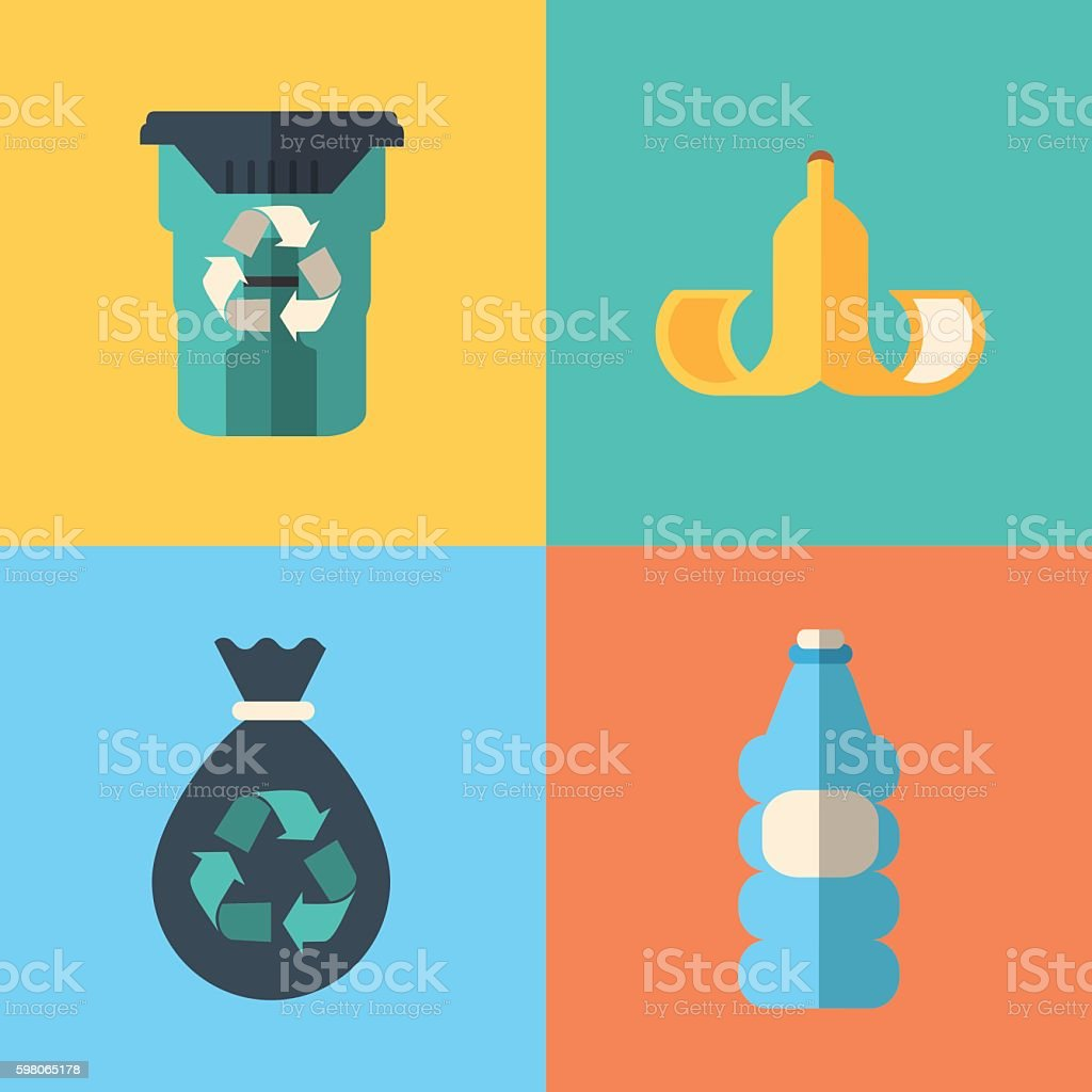 waste concept design vector art illustration