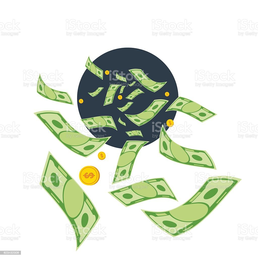 waste of money vector art illustration