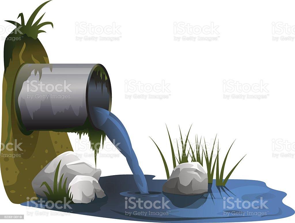 Wastewater Discharge vector art illustration