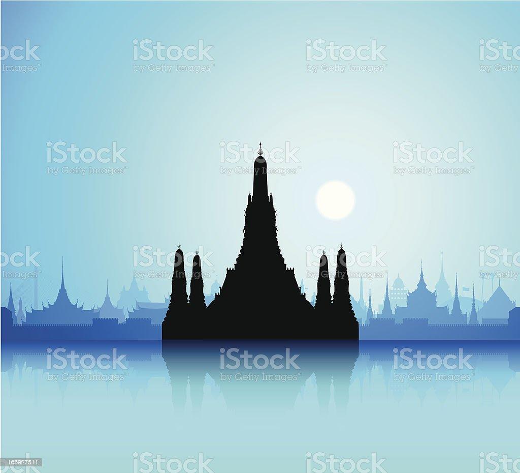 Wat Arun (Bangkok) royalty-free stock vector art