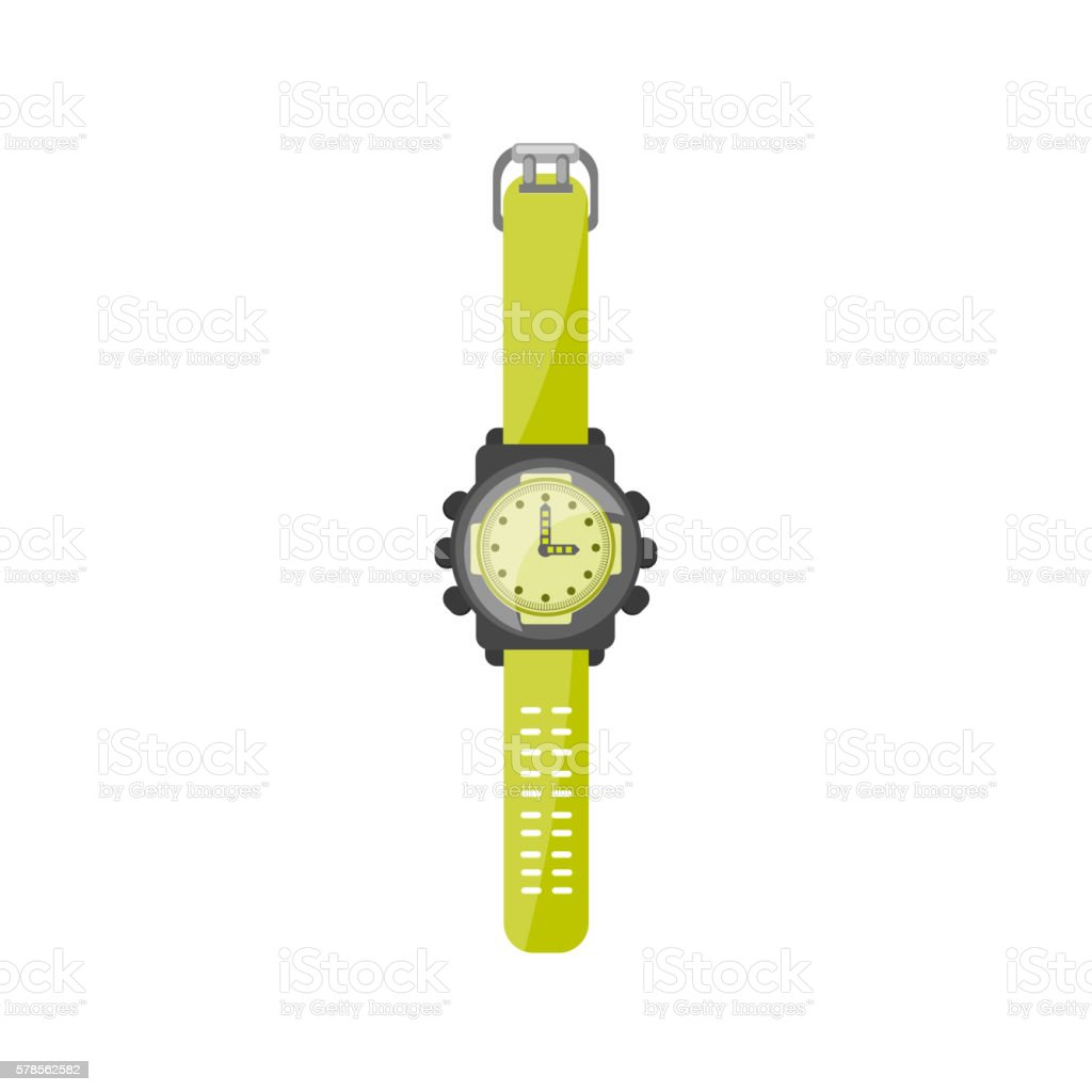 Watch in a flat style. Clock and time. Vector illustration. vector art illustration