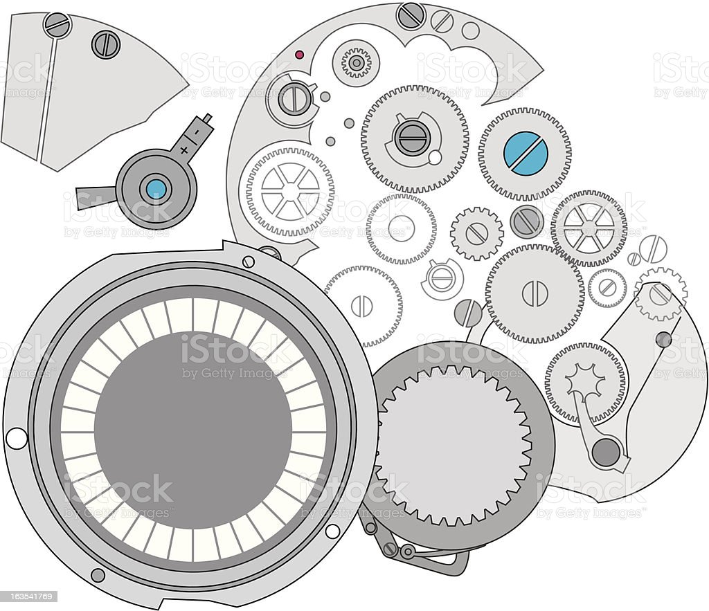 Watch parts royalty-free stock vector art