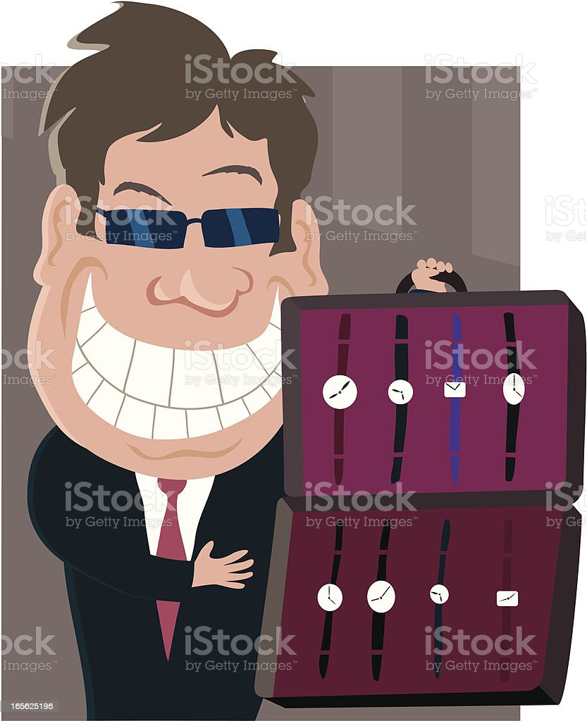 Watch Salesman royalty-free stock vector art