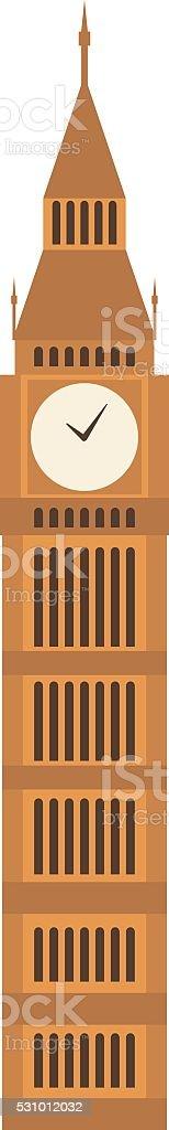Watch tower vector illustration vector art illustration