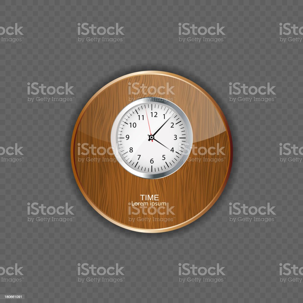 Watch wood application icons royalty-free stock vector art