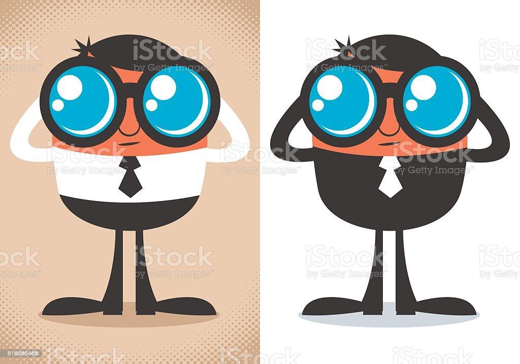 Watcher vector art illustration