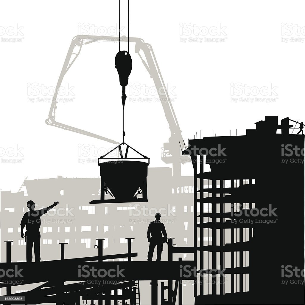 Watchful Work Vector Silhouette royalty-free stock vector art