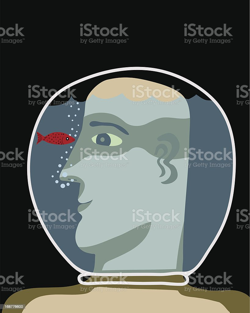 Watching the fish royalty-free stock vector art