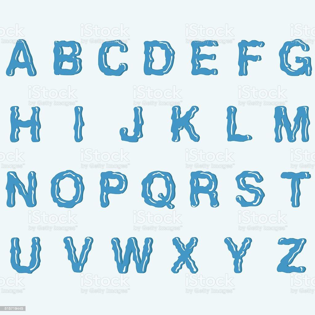 Water Alphabet royalty-free stock vector art