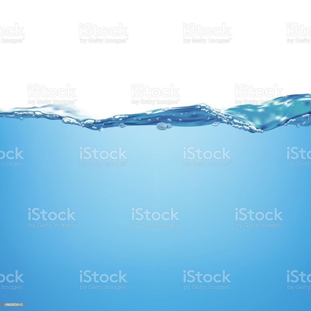 Water and air bubbles over white background vector art illustration