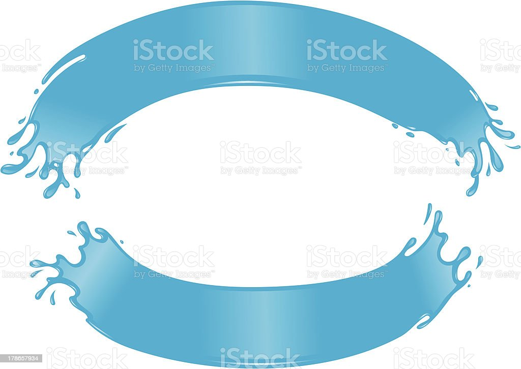 Water Arches Sign royalty-free stock vector art