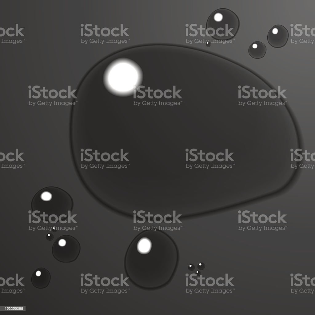 Water background on black royalty-free stock vector art