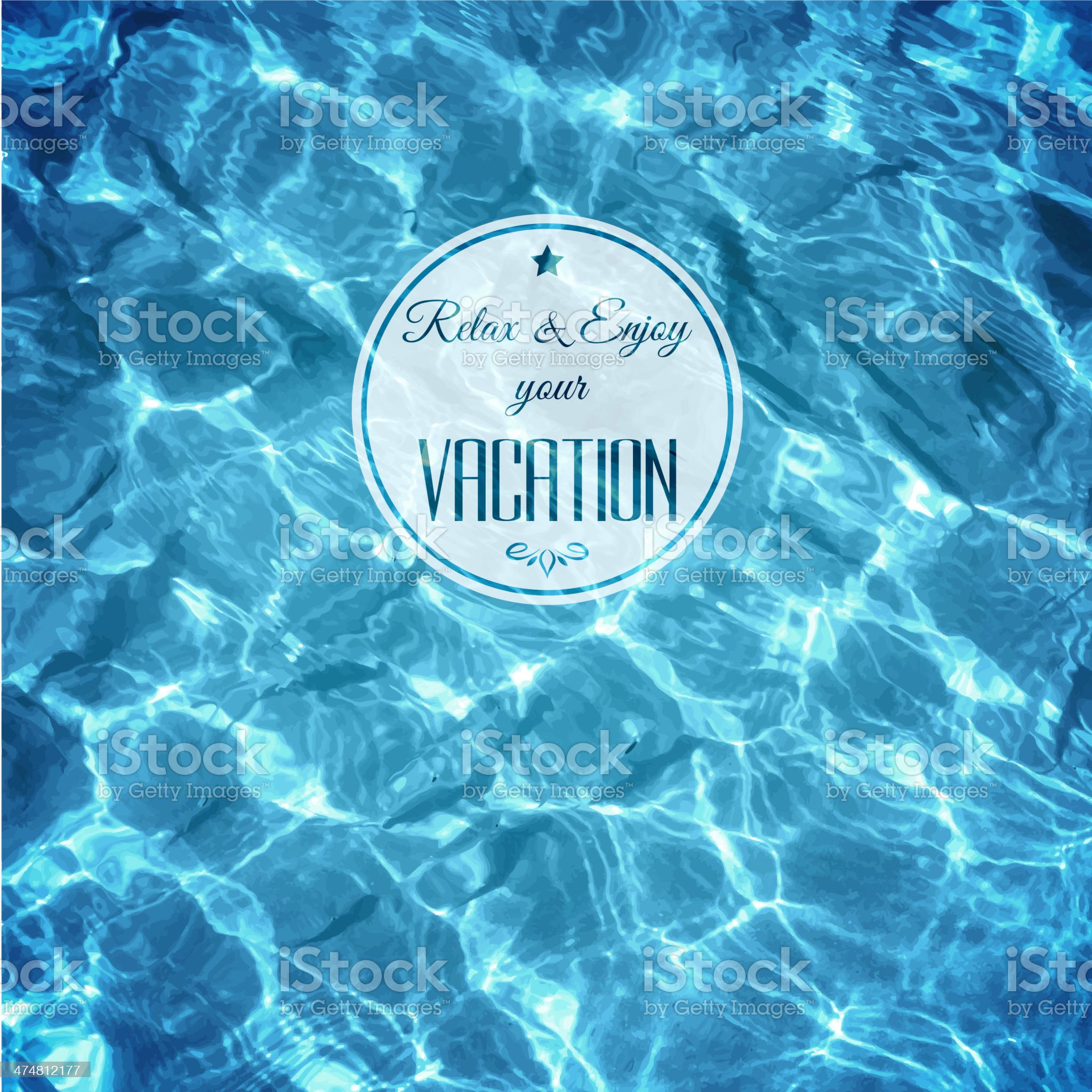 Water background with label royalty-free stock vector art